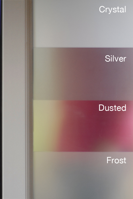 Dusted Premium Etch Glass Window Film 7 Year Life